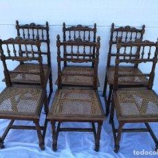 Antigüedades: SILLAS ANTIGUAS TALLADAS NOGAL. Lote 120088539