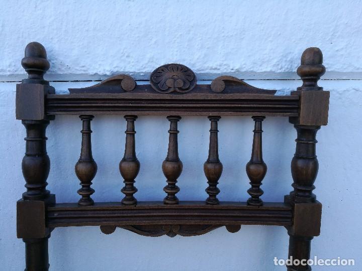 Antigüedades: Sillas antiguas talladas Nogal - Foto 4 - 120088539
