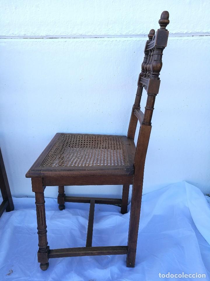 Antigüedades: Sillas antiguas talladas Nogal - Foto 7 - 120088539
