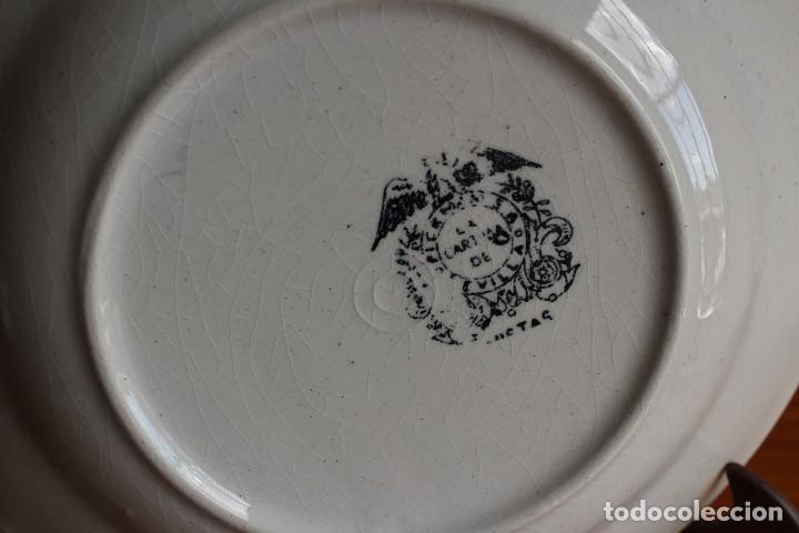 Antigüedades: ANTIGUO PLATO HONDO PICKMAN SEVILLA SERIE VISTAS SELLO ANTIGUO SIN NÚMERO 23,5 CM X 4,2 ALTURA - Foto 6 - 120111303