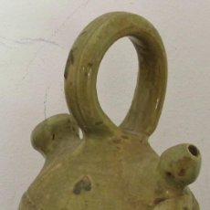 Antigüedades: ANTIGUO MINI BOTIJO DE SEGORBE - SANTA CUEVA - 20CM APROX, . Lote 120112375