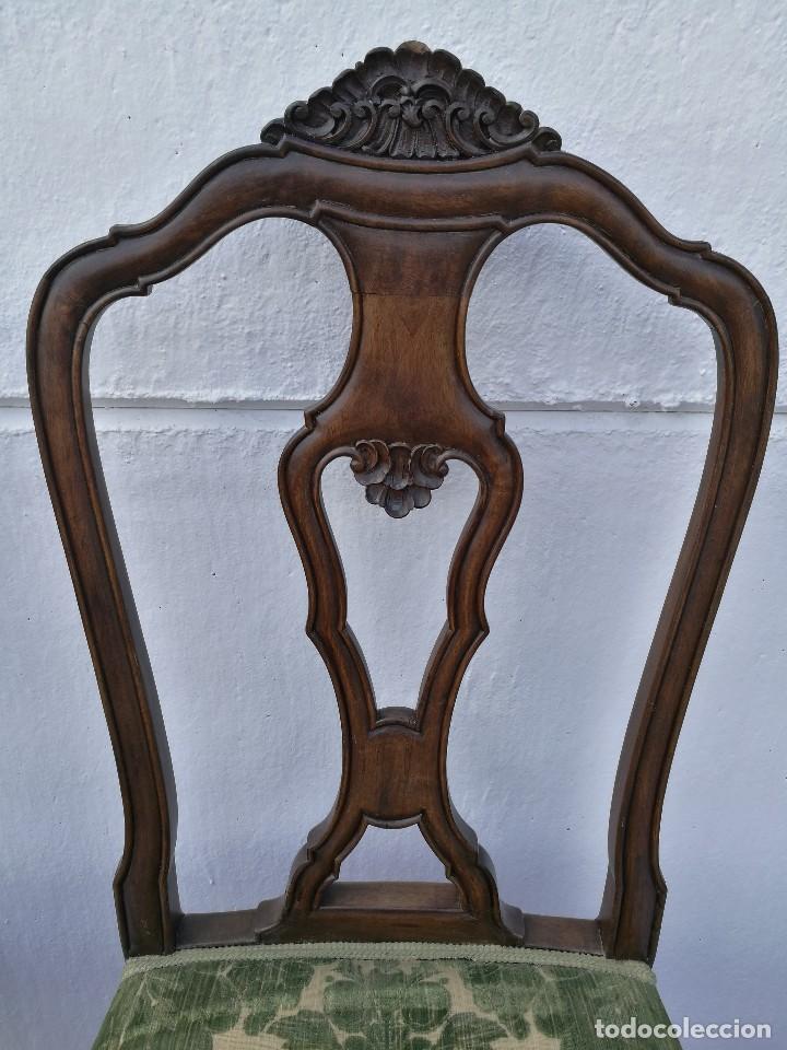 Antigüedades: Sillas Isabelinas antiguas - Foto 3 - 120118883