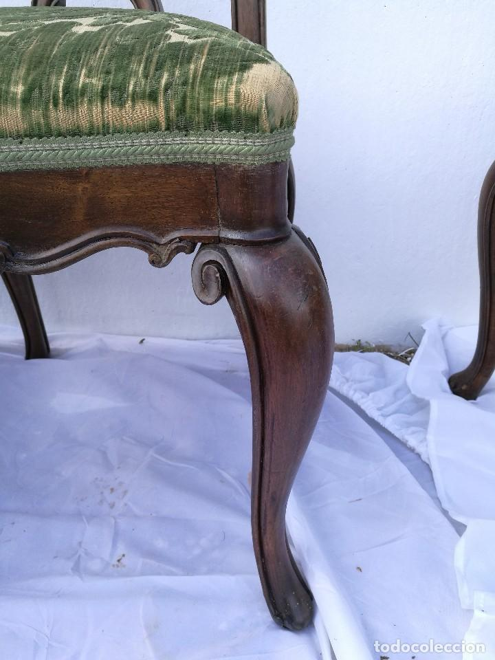 Antigüedades: Sillas Isabelinas antiguas - Foto 4 - 120118883