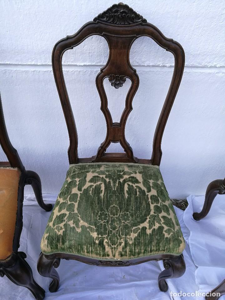 Antigüedades: Sillas Isabelinas antiguas - Foto 6 - 120118883
