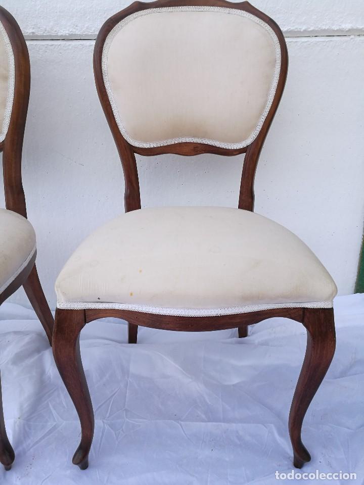 Antigüedades: Pareja de butacas/sillas antiguas Isabelinas - Foto 2 - 133048203
