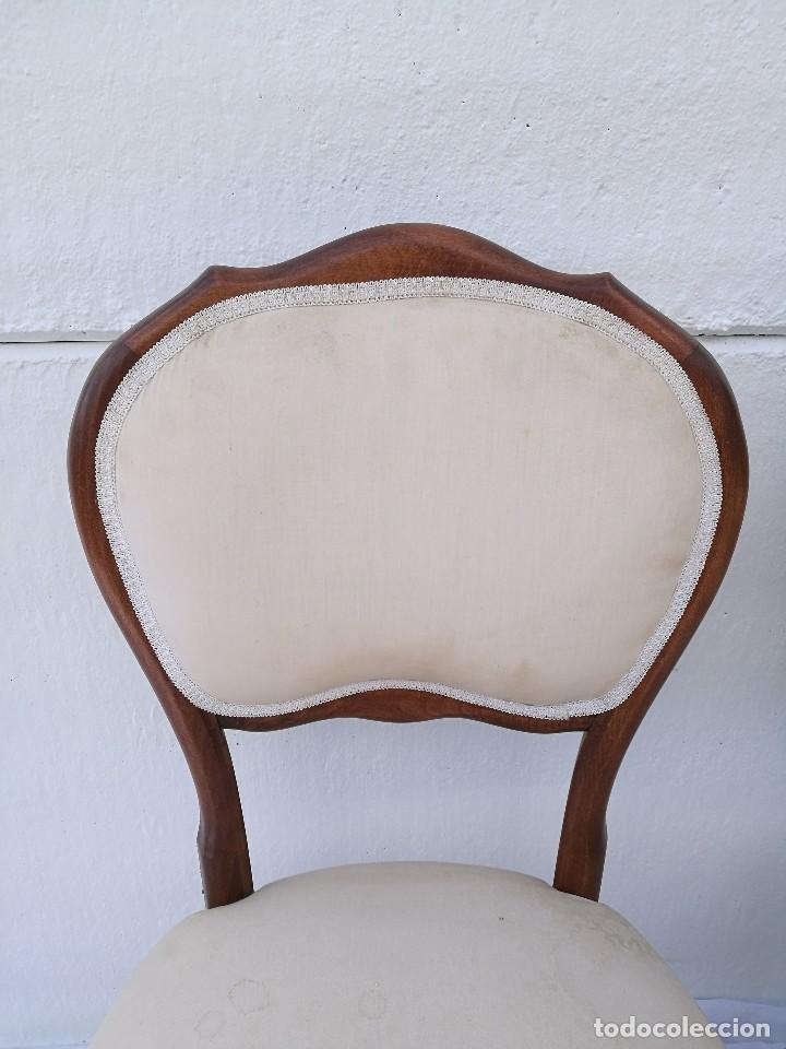 Antigüedades: Pareja de butacas/sillas antiguas Isabelinas - Foto 5 - 133048203