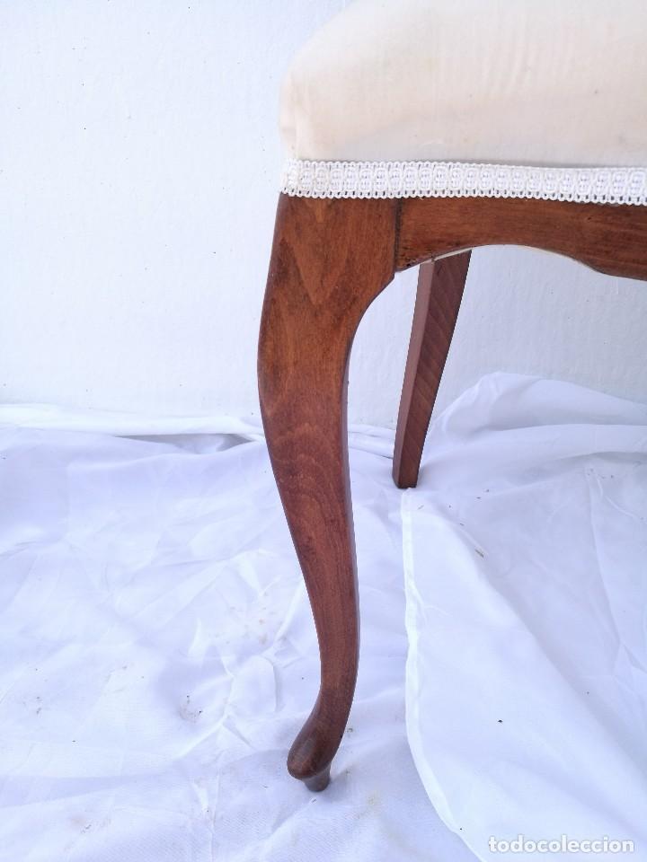 Antigüedades: Pareja de butacas/sillas antiguas Isabelinas - Foto 6 - 133048203
