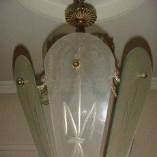 Antigüedades: LAMPARA FAROL EN CRISTAL. Lote 120138463