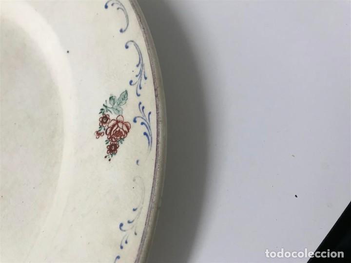 Antigüedades: Fuente loza San Claudio Oviedo, - Foto 3 - 120146351
