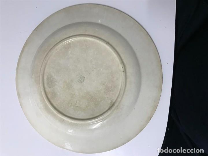 Antigüedades: Fuente loza San Claudio Oviedo, - Foto 4 - 120146351
