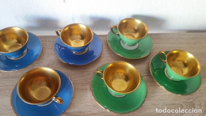 EXPLENDIDO JUEGO DE CAFE PINTADO A POLVO DE ORO24K SELADO ROSENTALANOS 40,50 (Antigüedades - Porcelanas y Cerámicas - Otras)