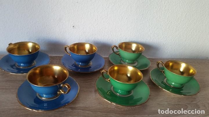 Antigüedades: EXPLENDIDO JUEGO DE CAFE PINTADO A POLVO DE ORO24K SELADO ROSENTALANOS 40,50 - Foto 2 - 120148459