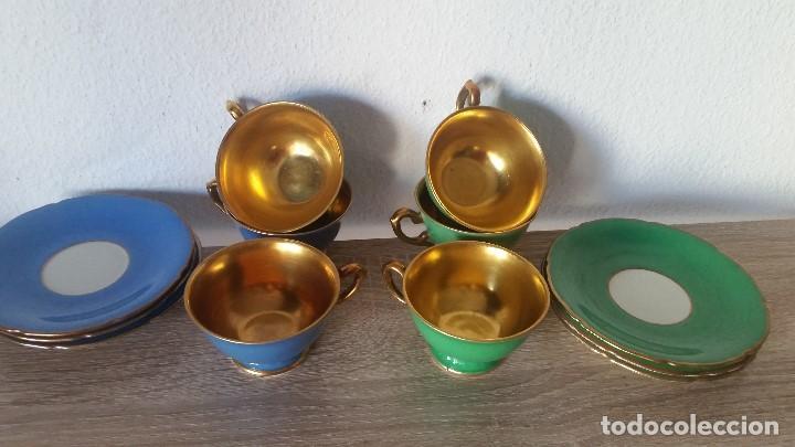 Antigüedades: EXPLENDIDO JUEGO DE CAFE PINTADO A POLVO DE ORO24K SELADO ROSENTALANOS 40,50 - Foto 5 - 120148459