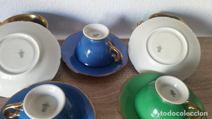 Antigüedades: EXPLENDIDO JUEGO DE CAFE PINTADO A POLVO DE ORO24K SELADO ROSENTALANOS 40,50 - Foto 8 - 120148459