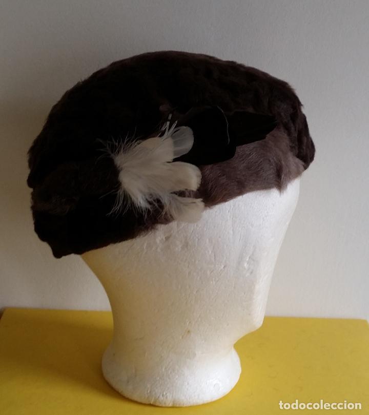 Antigüedades: Antiguo sombrero / tocado / gorro Art Deco , años 20 - 30 - Foto 3 - 120149507