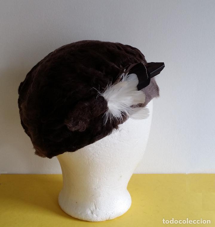 Antigüedades: Antiguo sombrero / tocado / gorro Art Deco , años 20 - 30 - Foto 4 - 120149507