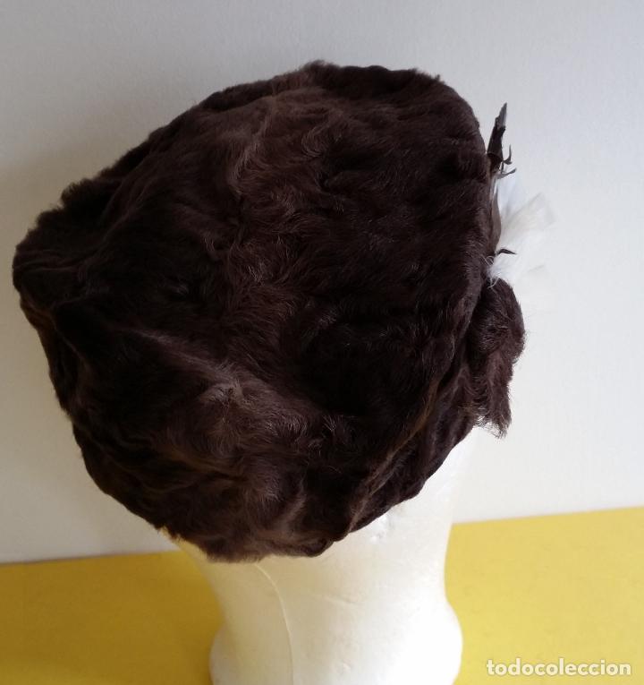 Antigüedades: Antiguo sombrero / tocado / gorro Art Deco , años 20 - 30 - Foto 5 - 120149507