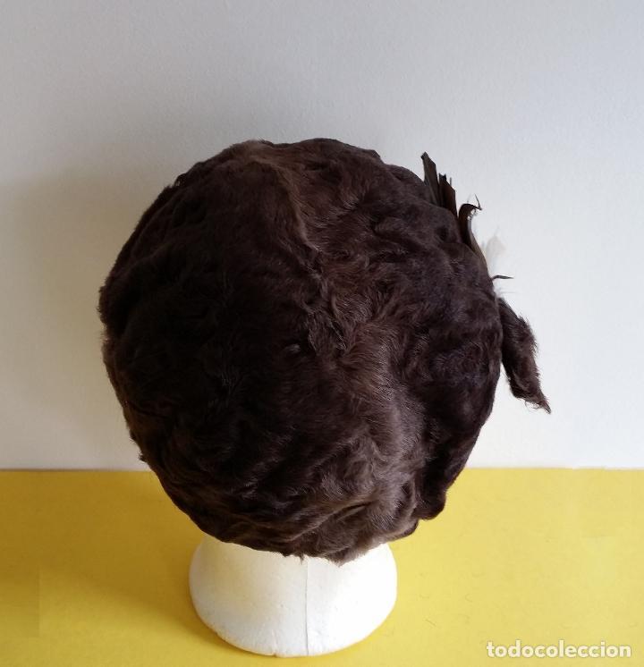 Antigüedades: Antiguo sombrero / tocado / gorro Art Deco , años 20 - 30 - Foto 6 - 120149507
