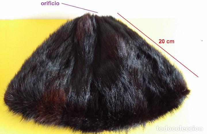 Antigüedades: Antiguo gorro de visón - Foto 9 - 120152371