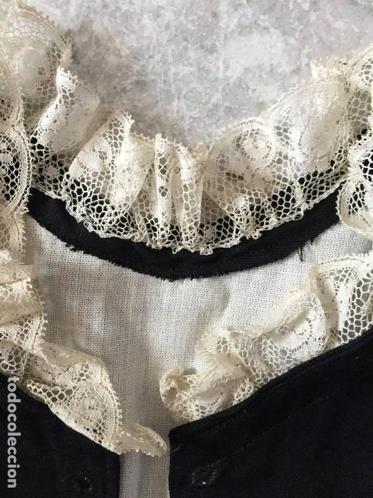 Antigüedades: chaleco sastre de traje niño ceremonia gala infantil sXIX cuello de encaje elegante infante noble - Foto 2 - 119062475