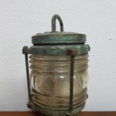 Antigüedades: FAROL APLIQUE DE BARCO BRONCE AÑOS XX. Lote 120198578