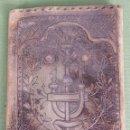 Antigüedades: CARTERA DE CABALLERO EN PIEL TRABAJADA A MANO. CIRCA 1940. . Lote 120202423