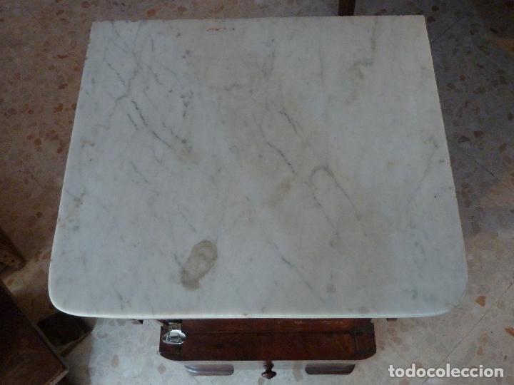 Antigüedades: DOMPEDRO O ORINAL ISABELINO - PEQUEÑO ARMARIO CON COMPARTIMENTOS Y REPOSA BRAZOS - Foto 3 - 120234663