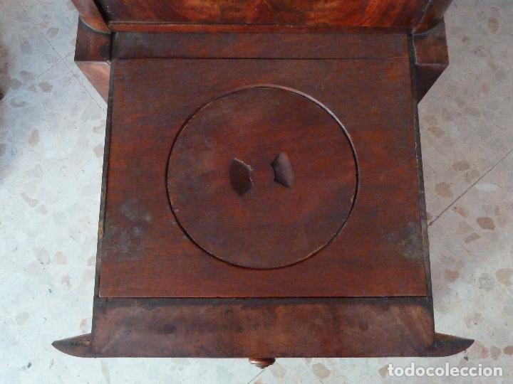 Antigüedades: DOMPEDRO O ORINAL ISABELINO - PEQUEÑO ARMARIO CON COMPARTIMENTOS Y REPOSA BRAZOS - Foto 10 - 120234663
