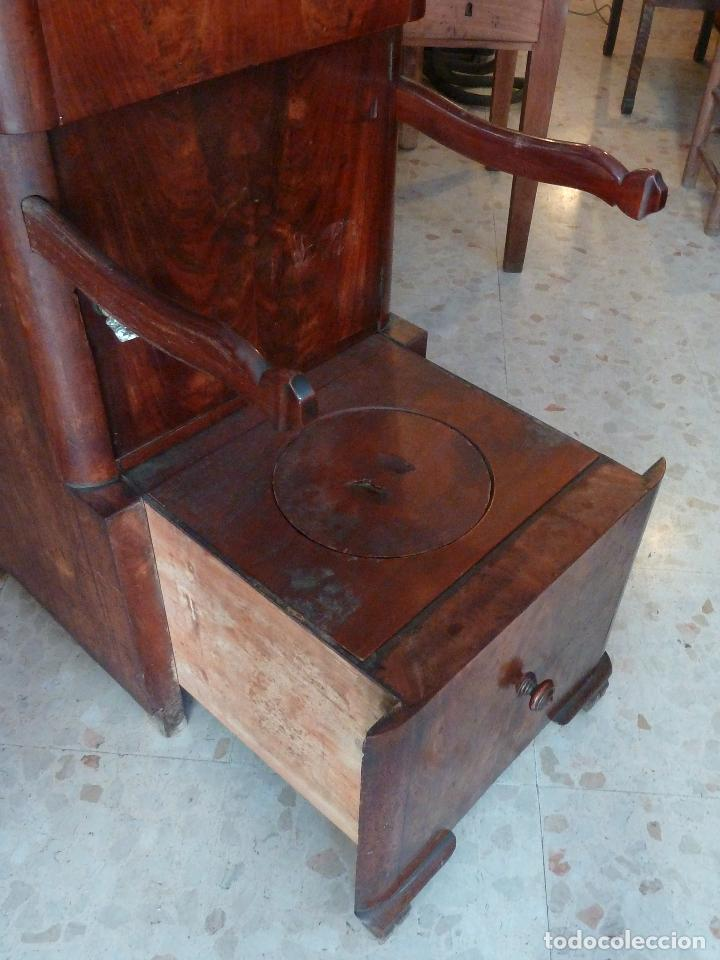 Antigüedades: DOMPEDRO O ORINAL ISABELINO - PEQUEÑO ARMARIO CON COMPARTIMENTOS Y REPOSA BRAZOS - Foto 11 - 120234663