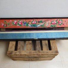 Antigüedades: BASTÓN DE MARFIL ANTIGUO CON SU CAJA LACADA ORIGINAL FINALES DE SIGLO XIX. Lote 120236743