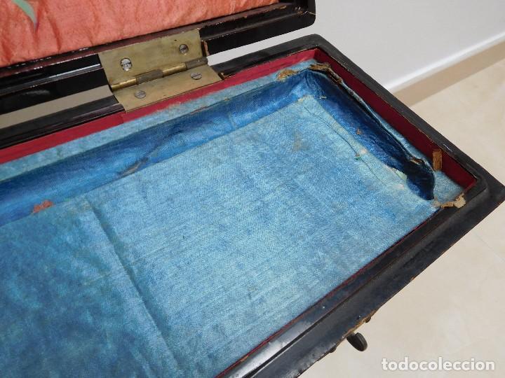 Antigüedades: Bastón de marfil antiguo con su caja lacada original finales de siglo XIX - Foto 12 - 120236743