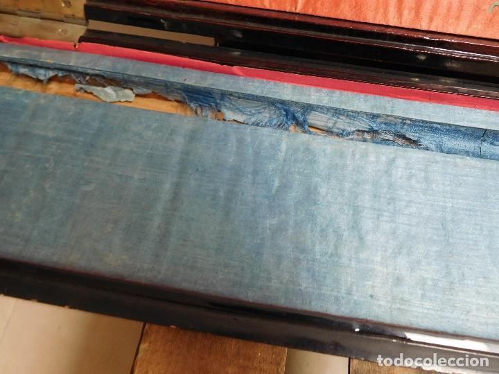 Antigüedades: Bastón de marfil antiguo con su caja lacada original finales de siglo XIX - Foto 15 - 120236743