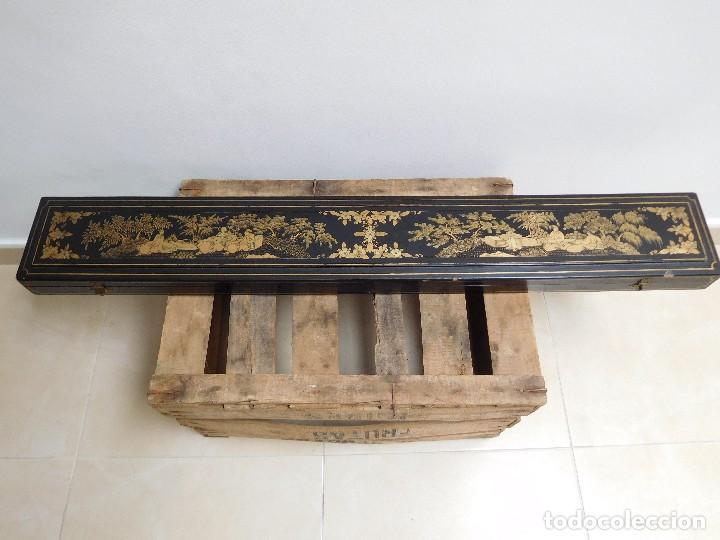 Antigüedades: Bastón de marfil antiguo con su caja lacada original finales de siglo XIX - Foto 35 - 120236743