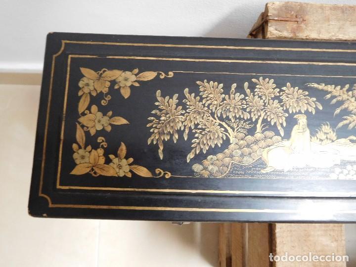 Antigüedades: Bastón de marfil antiguo con su caja lacada original finales de siglo XIX - Foto 36 - 120236743