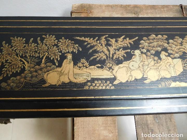 Antigüedades: Bastón de marfil antiguo con su caja lacada original finales de siglo XIX - Foto 37 - 120236743