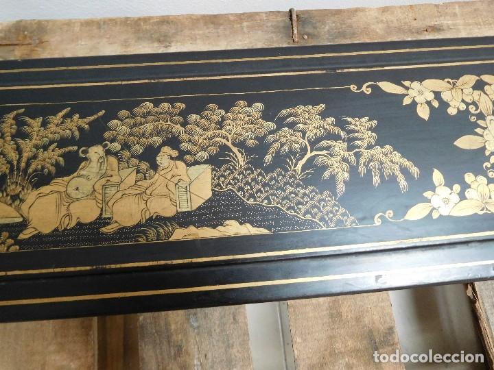 Antigüedades: Bastón de marfil antiguo con su caja lacada original finales de siglo XIX - Foto 38 - 120236743
