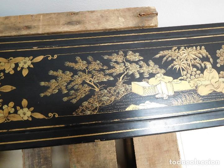 Antigüedades: Bastón de marfil antiguo con su caja lacada original finales de siglo XIX - Foto 40 - 120236743