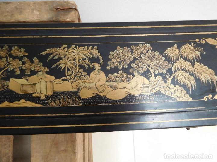 Antigüedades: Bastón de marfil antiguo con su caja lacada original finales de siglo XIX - Foto 41 - 120236743