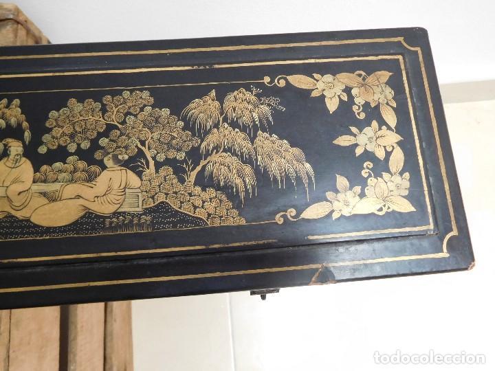 Antigüedades: Bastón de marfil antiguo con su caja lacada original finales de siglo XIX - Foto 42 - 120236743
