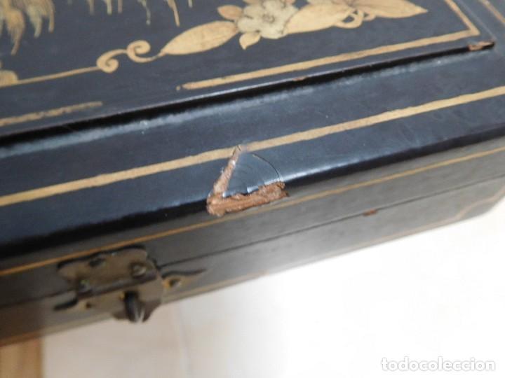 Antigüedades: Bastón de marfil antiguo con su caja lacada original finales de siglo XIX - Foto 43 - 120236743