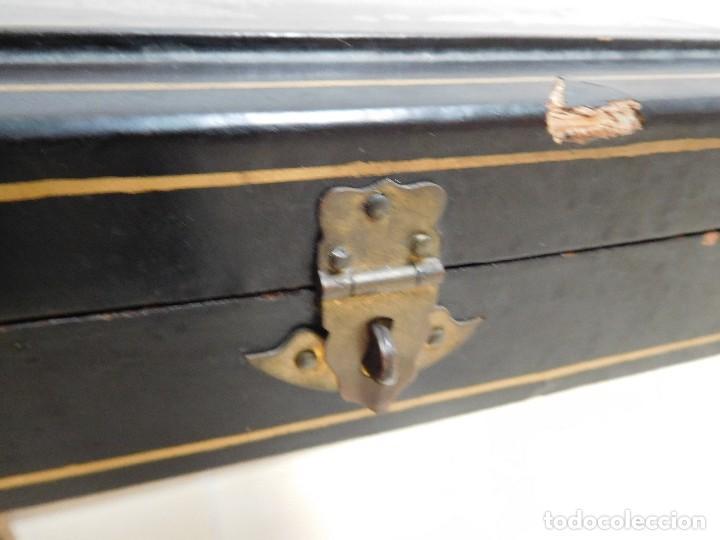 Antigüedades: Bastón de marfil antiguo con su caja lacada original finales de siglo XIX - Foto 44 - 120236743