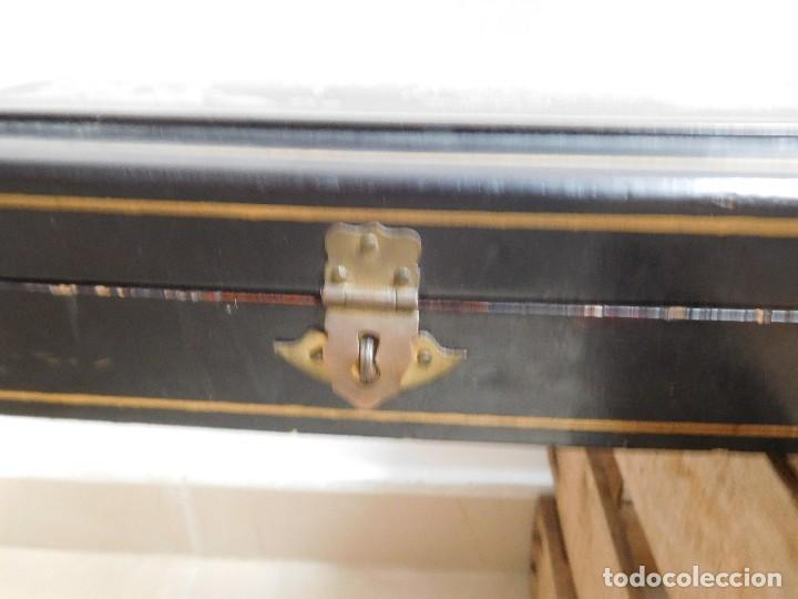 Antigüedades: Bastón de marfil antiguo con su caja lacada original finales de siglo XIX - Foto 46 - 120236743