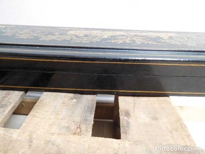 Antigüedades: Bastón de marfil antiguo con su caja lacada original finales de siglo XIX - Foto 48 - 120236743