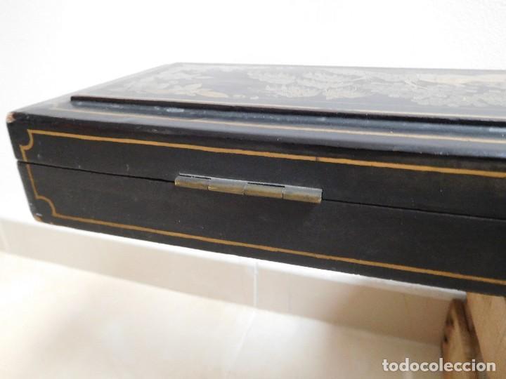 Antigüedades: Bastón de marfil antiguo con su caja lacada original finales de siglo XIX - Foto 50 - 120236743