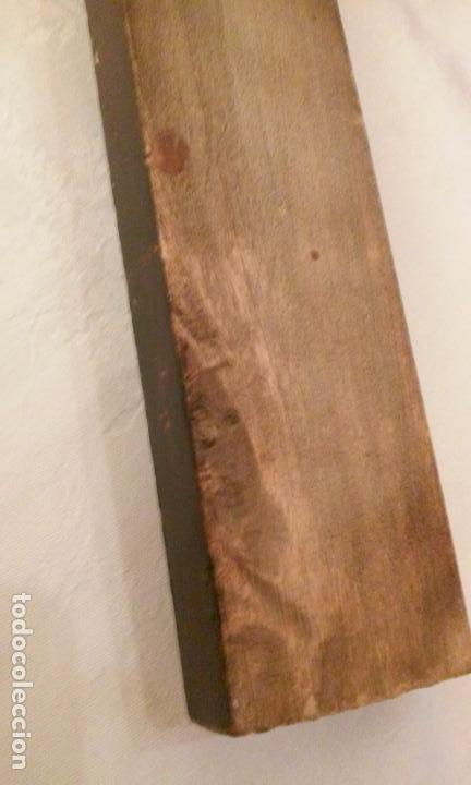 Antigüedades: CRUCIFIJO DE PARED (METAL Y MADERA) ANTIGUO - Foto 9 - 120237703