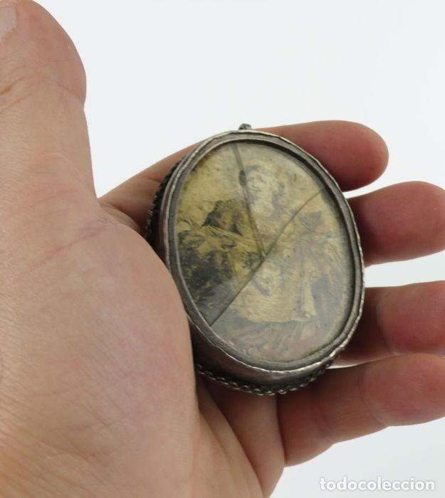 Antigüedades: ANTIGUO RELICARIO DE PLATA IMAGEN LA VERONICA SANTA FAZ- S.XVIII-S.XIX - Foto 4 - 57084769