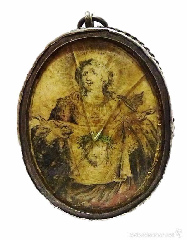 Antigüedades: ANTIGUO RELICARIO DE PLATA IMAGEN LA VERONICA SANTA FAZ- S.XVIII-S.XIX - Foto 6 - 57084769