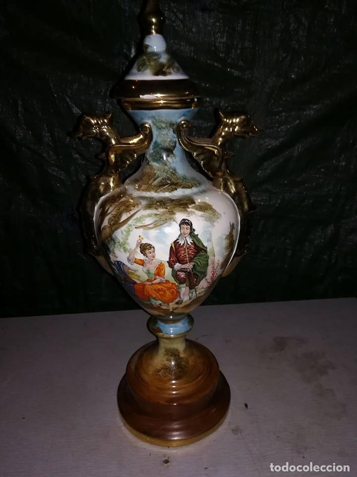 IMPRESIONANTE JARRON CERAMICA IMPERIO (Antigüedades - Hogar y Decoración - Jarrones Antiguos)