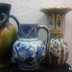 Antigüedades: LOTE DE 3 JARRONES: 2 HOLANDESES MAASTRICHT Y DELFT; 1 FLAMENCO TORHOUT 3 ASAS DE GILBERT MONTEYNE. Lote 177384379
