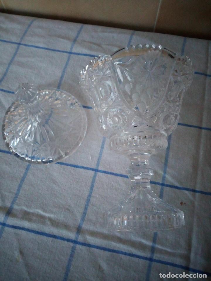 Antigüedades: BOMBONERA DE CRISTAL DE BOHEMIA TALLADO, república checa - Foto 5 - 120259455